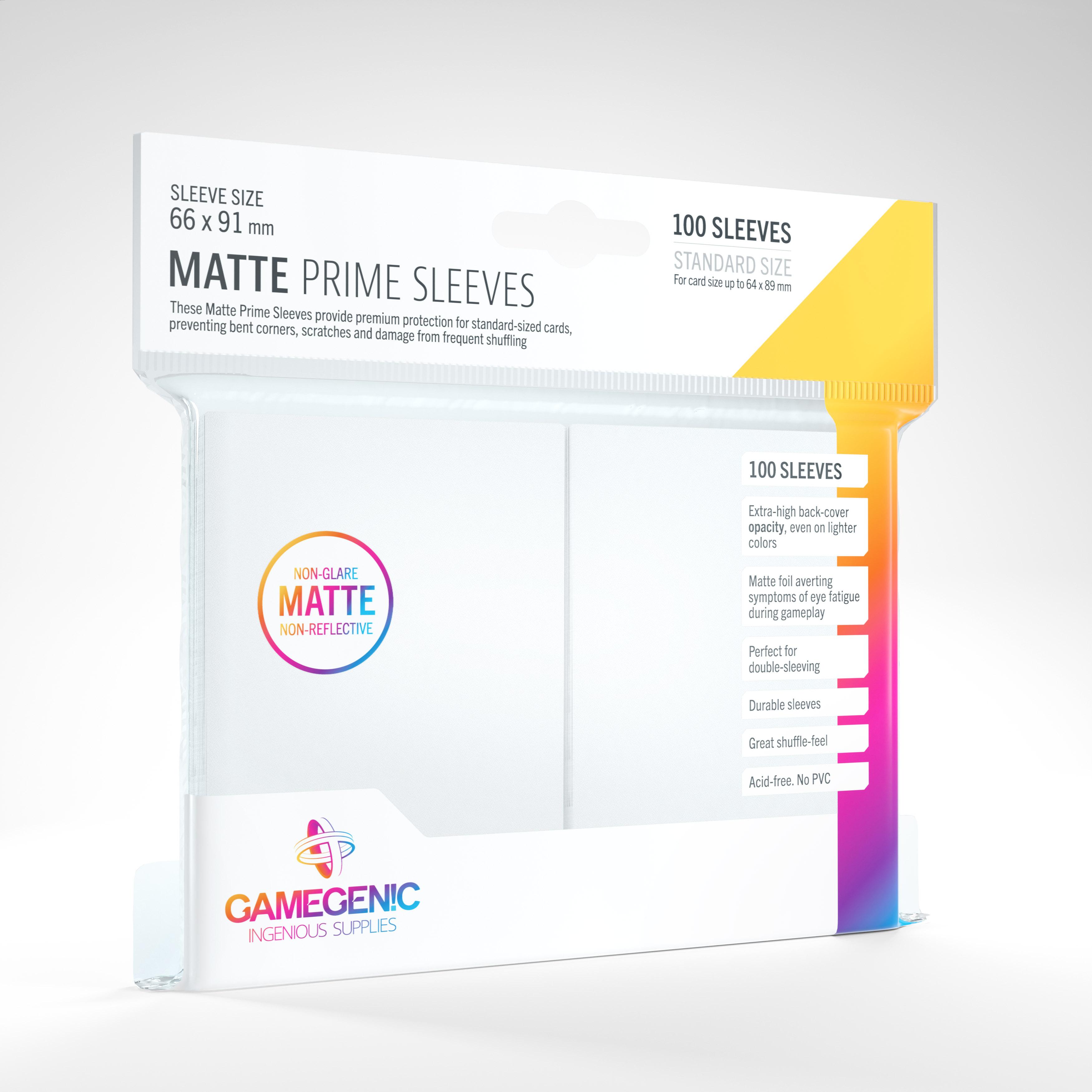 MATTE Prime Sleeves: White (100)