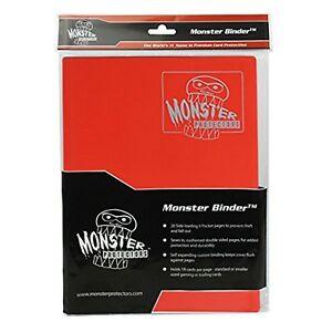 Monster Binder 9 Pocket Matte Red