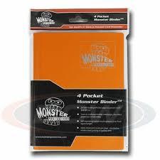 Monster Binder 4 Pocket Matte Orange