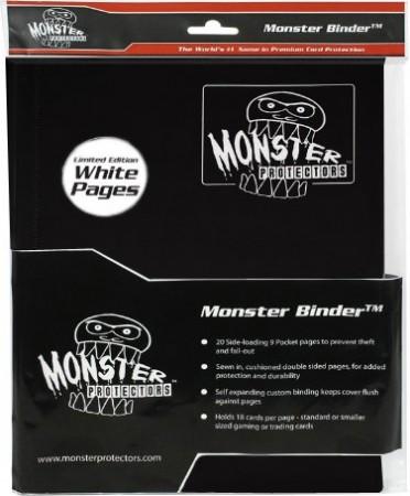 Monster Binder 9 Pocket Matte Black White Pages