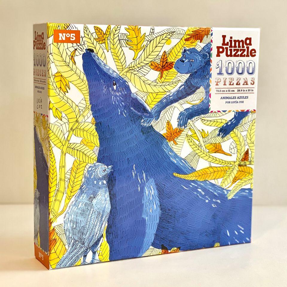 Lima Puzzle 1000 pzs, Animales Azules