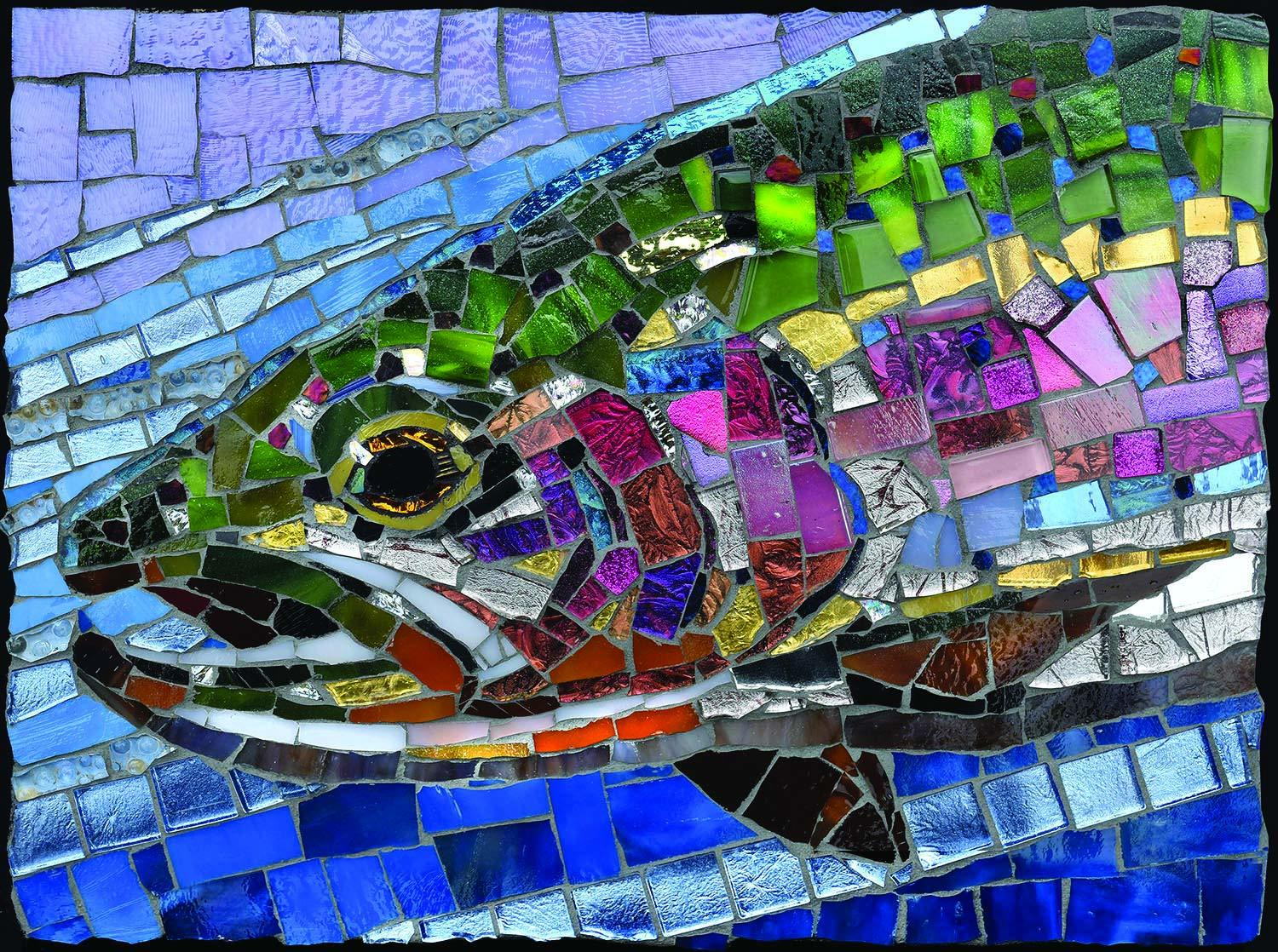 SunsOut 1000 pzs. Stained Glass : Rainbow Trout
