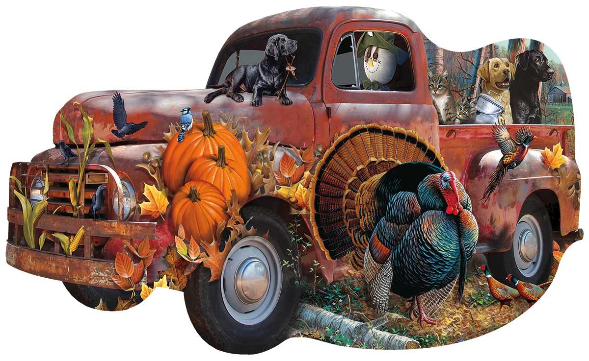 SunsOut 1000 pzs. Shaped, harvest Truck
