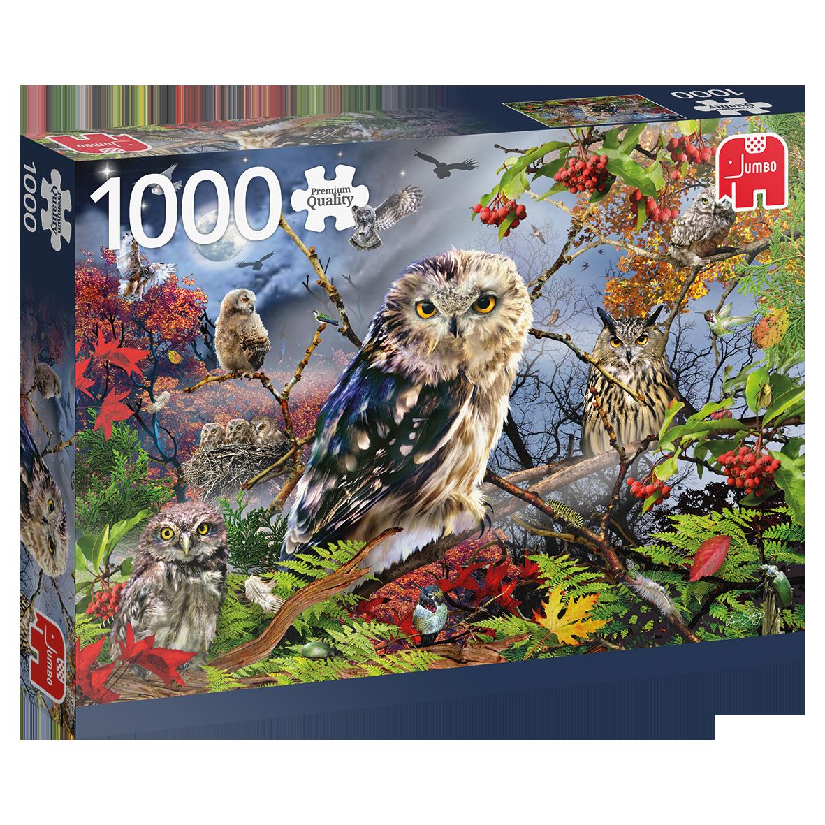 Jumbo 1000 pzs. PC Owls in the Moonlight