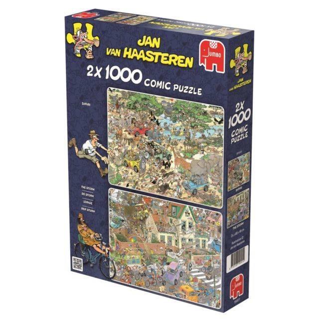 Jumbo 2 x 1000 pzs. Jan Van Haasteren, Safari & Storm
