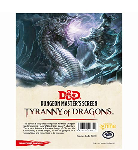 D&D 5ed: Dungeon Master Screen - Tyranny Of Dragons