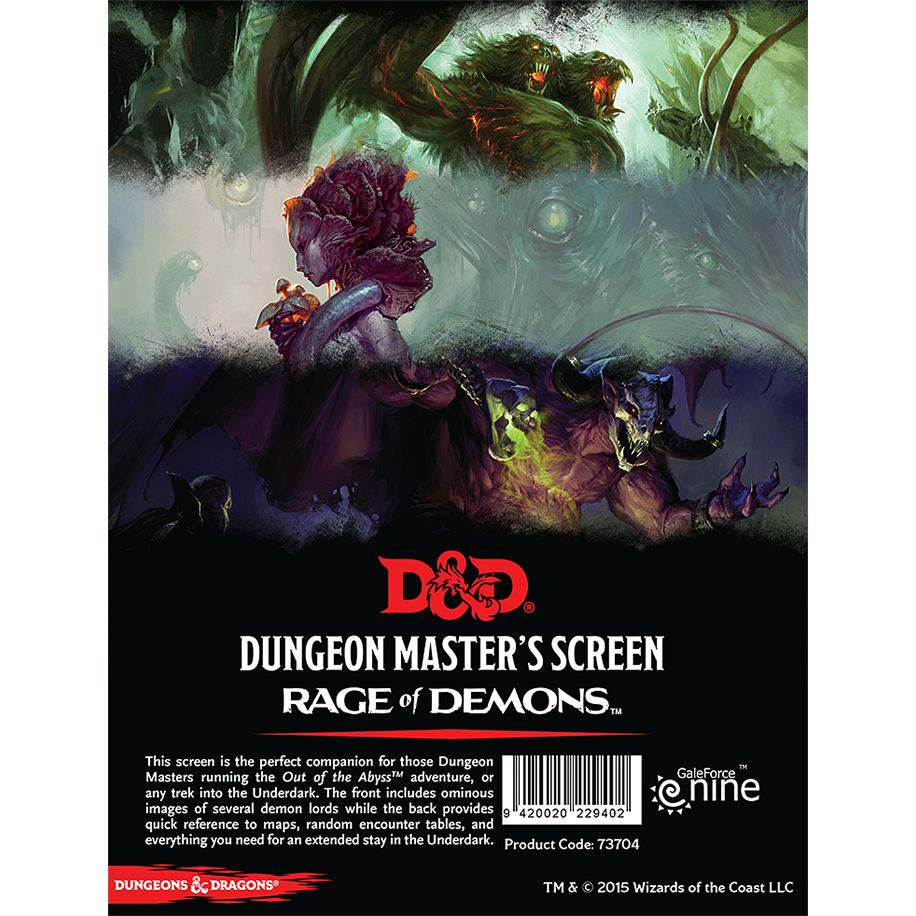 D&D 5ed: Dungeon Master Screen - Rage of Demons