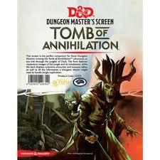 D&D 5ed: Dungeon Master Screen - Tomb of Annihilation
