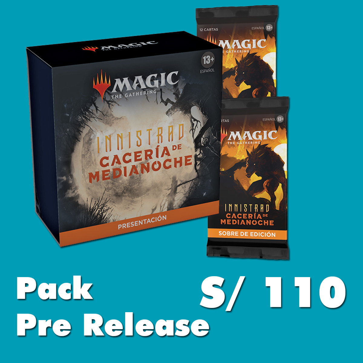 MTG Pack de Pre Release  Innistrad Midnight Hunt