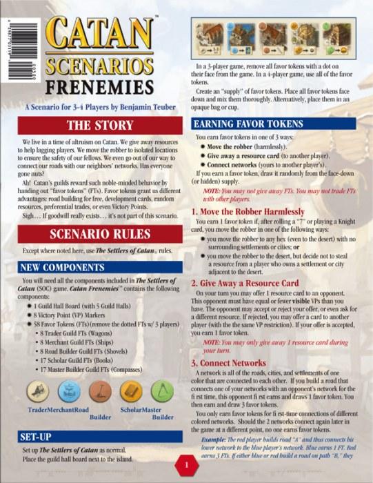 Catan Scenario : Frenemies
